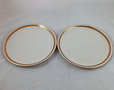 Taylor Smith & Taylor USA Chippendale Collection Heritage Dinner Plates (2) VGC