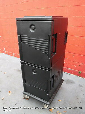 Cambro Full Size Pan Double Stack Food Transportation Carrier Cabinet on Wheels