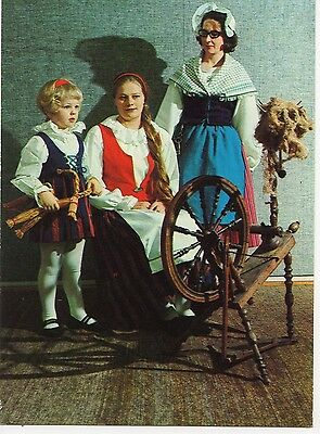 Finland - Native Costumes ~An Old Postcard (7G4)