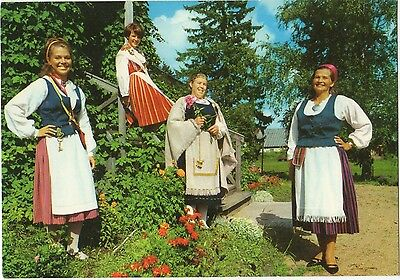 Finland - Native Costumes ~An Old Postcard (7G5)