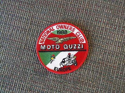 Moto Guzzi National Owners Club Europe 1988 patch