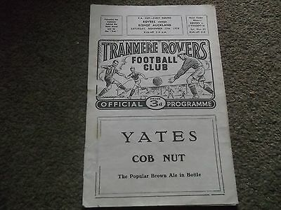 Tranmere Rovers V Bishop Auckland Fa Cup 1St Round 15Th November 1958 8-1 Score