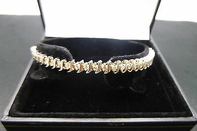 9ct White Gold 2.5 Carats Diamond Bracelet 7.5 inches in length