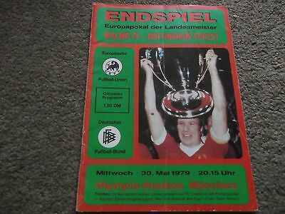 1979 European Cup Final Malmo V Nottingham Forest 30Th May 1979 @ Munich