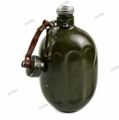WWII original Hungarian army canteen. Rare vintage Hungary water bottle 1950's