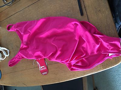 Slazenger Pink Maternity Swimsuit Swimming Costume New 10