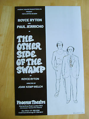 """""""the Other Side Of The Swamp"""" 1980 Phoenix Theatree Poster"""