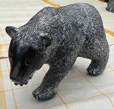 Wolf Edmund Canada Grizzly Bear Sculpture Carved Collectable Soapstone Signed