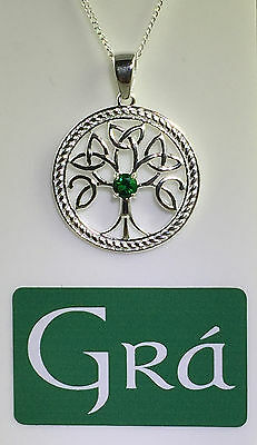 Sterling Silver - Tree of Life Celtic Pendant - MADE IN IRELAND