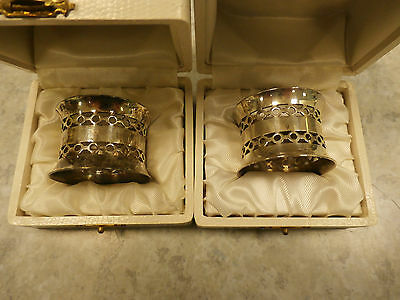 Silver Coloured St.Medard Napkin Rings Set of 2 in Individual Boxes (Ref CCC)