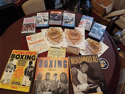 boxing programme,tickets, books and tapes