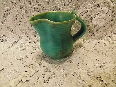 Crown Devon pottery Fields small turquoise  jug - pitcher