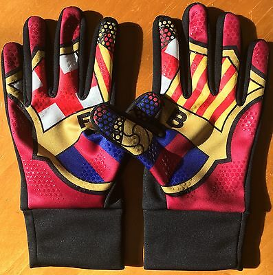 New Nike Adult FC Barcelona HyperWarm Soccer Gloves Unisex Size Large (L) Cold