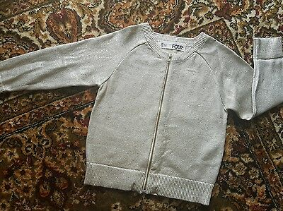 Girl's Cotton On Gold Knit Cardigan Size 4