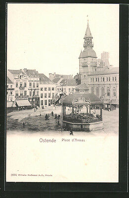 formidable CPA Ostende, Place d´Armes