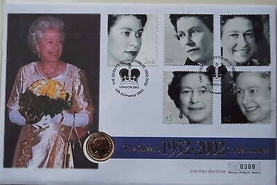 Royal Mint Issue HALF SOVEREIGN - 2002 sealed in Jubilee First Day Cover
