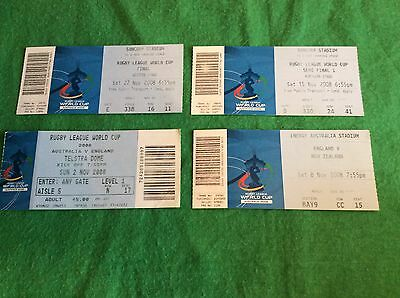 : 2008 Rugby League - World Cup Final - Plus Semi & 2 Other England Tickets