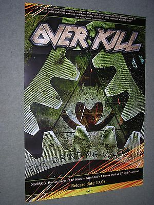 """Overkill / The Grinding Wheel- Original Large Promotional Poster 33"""" x 23"""""""