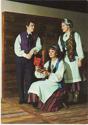 Finland - Native Costumes ~An Old Postcard (7G10)