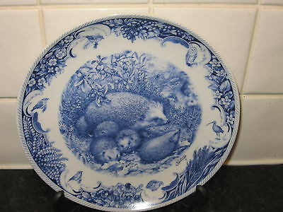 The Hedgehogs    Plate -   A Year By The Riverbank      - Danbury Mint