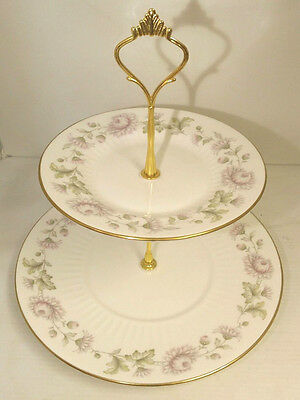 Duchess Morning Mist two tier Cake Plate