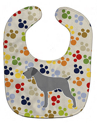 Carolines Treasures  BB6316BIB German Wirehaired Pointer Pawprints Baby Bib
