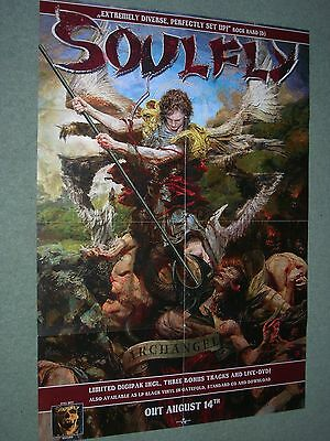 """Soulfly / Archangel- Original Large Promotional Poster 33"""" x 23"""""""