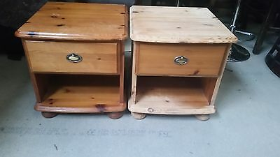 Pine  Pair Of Bedside Cabinets / Shabby Chic Project (28)
