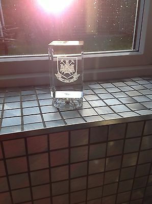 west ham united Crystal Glass Etched Ornament