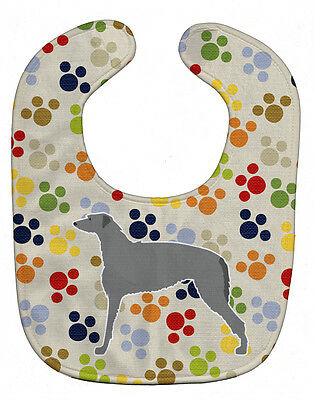 Carolines Treasures  BB6301BIB Scottish Deerhound Pawprints Baby Bib