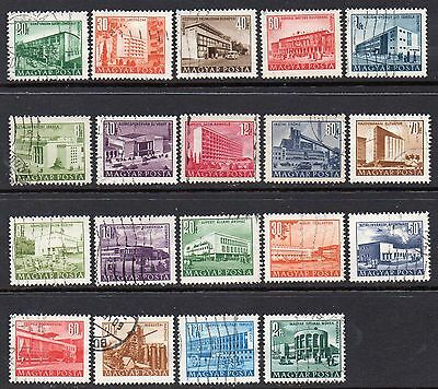 "Hungary Nice Collection of 19-1951 1952 & 1953 ""Budapest Buildings"" Used  Issues"
