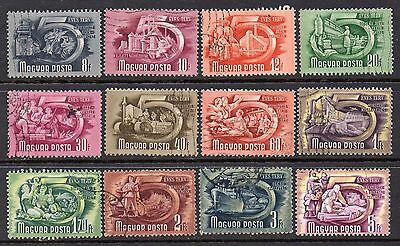 "Hungary: A Very Nice Collection of 12-Used 1950 ""Industries"" Issues"