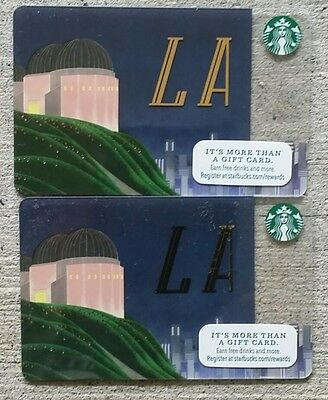 50 New Starbucks 2016 Los Angeles City Gift Cards Lot Griffith Park