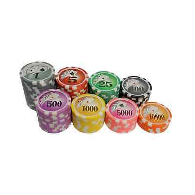 Yin Yang Numbered Laser Poker Chips - 11.5g Clay Composite