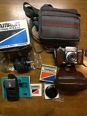 Vintage camera and accessory lot