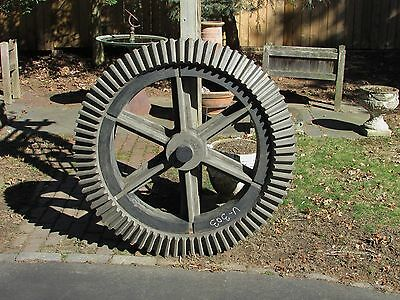 Large Industrial Gear Foundry Mold Wooden Steampunk Machine Age