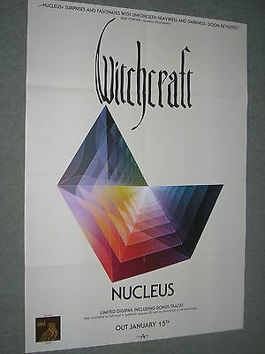 """Witchcraft / Nucleus - Original Large Promotional Poster 33"""" x 23"""""""
