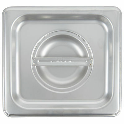 4 PACK 1/6 Size PAN LID Stainless Steel Steam Hotel Prep Table Food Cover NEW