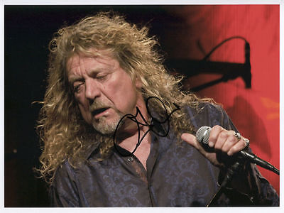 """Robert Plant Signed 8"""" x 10"""" Photo Genuine In Person"""