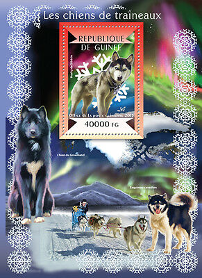 Guinee 2015 Sledge Dogs Animals S/S / FDC / IMPERF GU15107