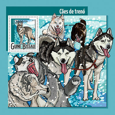 Guinea Bissau 2015 Sledge Dogs S/S / FDC / IMPERF GB15413