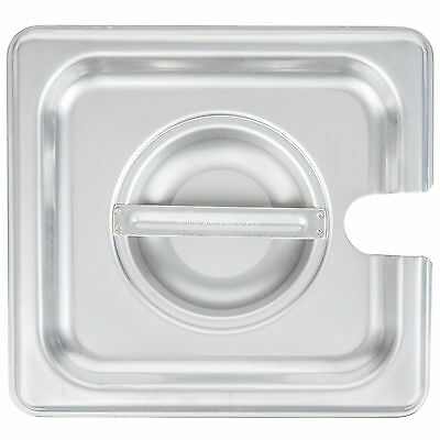 10 PACK 1/6 Size SPOON PAN LID Stainless Steel Steam Hotel Prep Table Food Cover