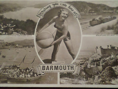 1960 Postcard Wishing You Were Here At Barmouth (4 Views)