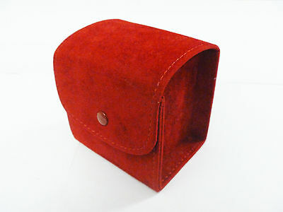 Cartier Suede Travel Watch Case Pouch Red - Great Condition