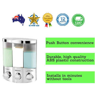 Shower Soap Shampoo Conditioner Dispenser Bathroom Wall Shampoo Pump