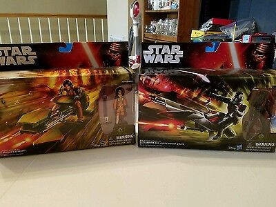 2 Star Wars Figures With Vehicles