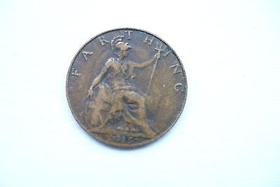 1915 old British farthing.
