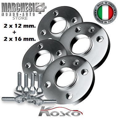 Kit 4 Distanziali Ruote 12+16 Mm. Alfa Romeo 4C (Type 960) 2013->  Con Bulloni