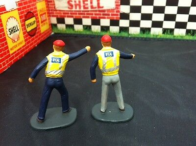2 x Scalextric Trackside Officials (FIA) hand painted Figures