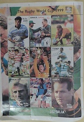 lot 9 timbres coupe du monde rugby 1999 - somalie